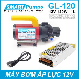 May Bom Ap Luc Mini Smarpumps 12V 120W GL120 Kem Nguon.jpg